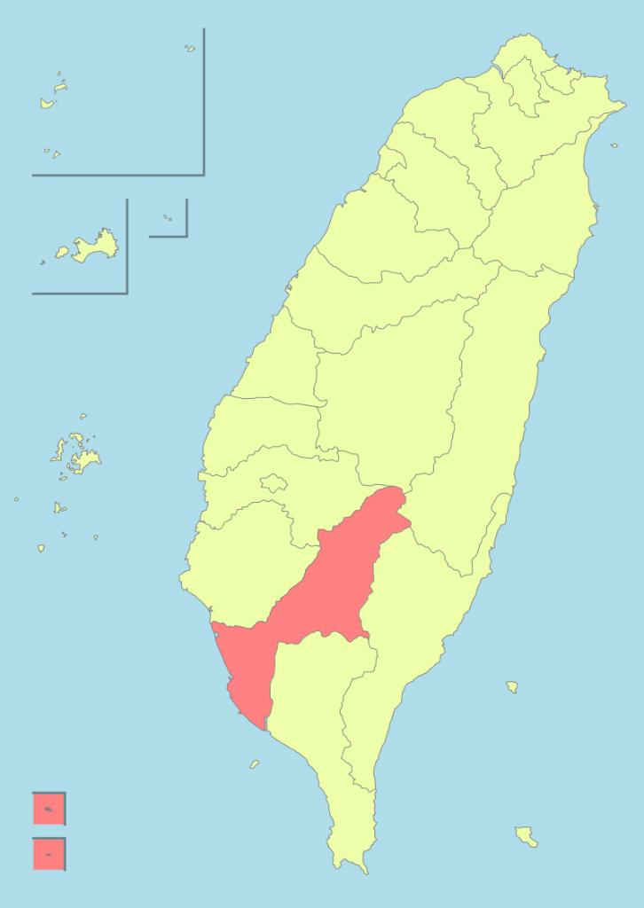 vị trí thành phố Cao Hùng bản đồ Đài Loan