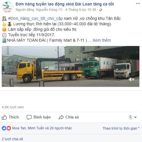 bình luận , phản hồi về đơn hàng toàn đài trên fanpage công ty