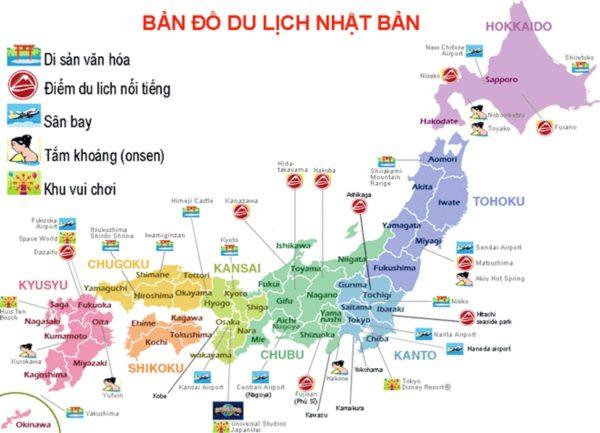 Bản đồ Nhật Bản Xem Bản đồ Chi Tiết Cac Tỉnh Va Thanh Phố Của Nhật Bản